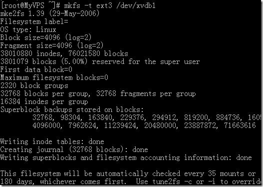 linux格式化硬盘